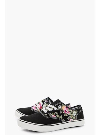 BOOHOO Floral panel slip on Grace foto