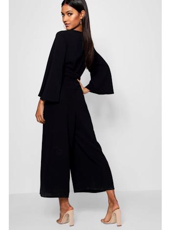 BOOHOO Culotte overal s twist detailem foto