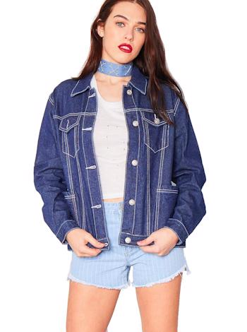 MISSY EMPIRE Oversized denim bunda Rayna foto