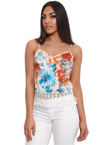 THE FASHION BIBLE Cami top Koko s floral potiskem foto
