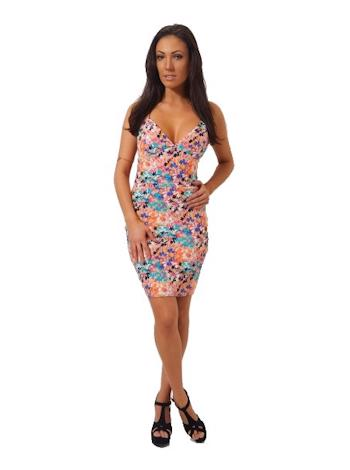 THE FASHION BIBLE Floral bodycon šaty Jonnah foto