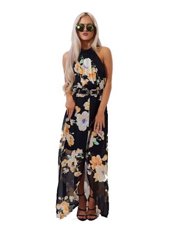 THE FASHION BIBLE Splývavé floral maxi šaty Mia foto