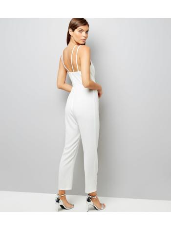 NEW LOOK Luxusní Strappy tapered leg overal foto
