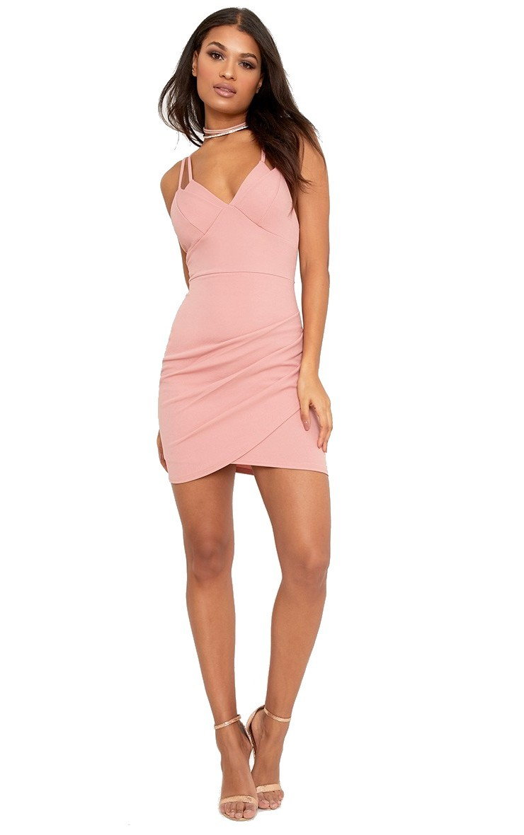 Double strap bodycon šaty PRETTYLITTLETHING náhled